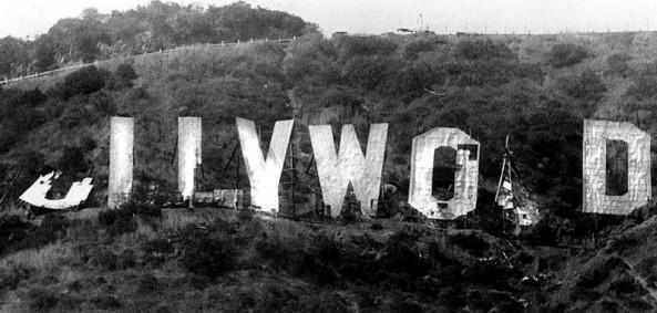 Broken Hollywood Sign