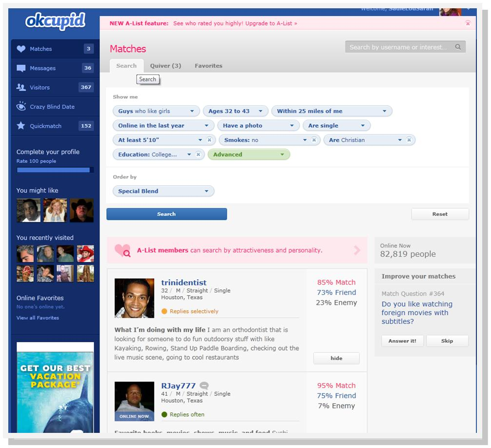 View okcupid profiles without logging in