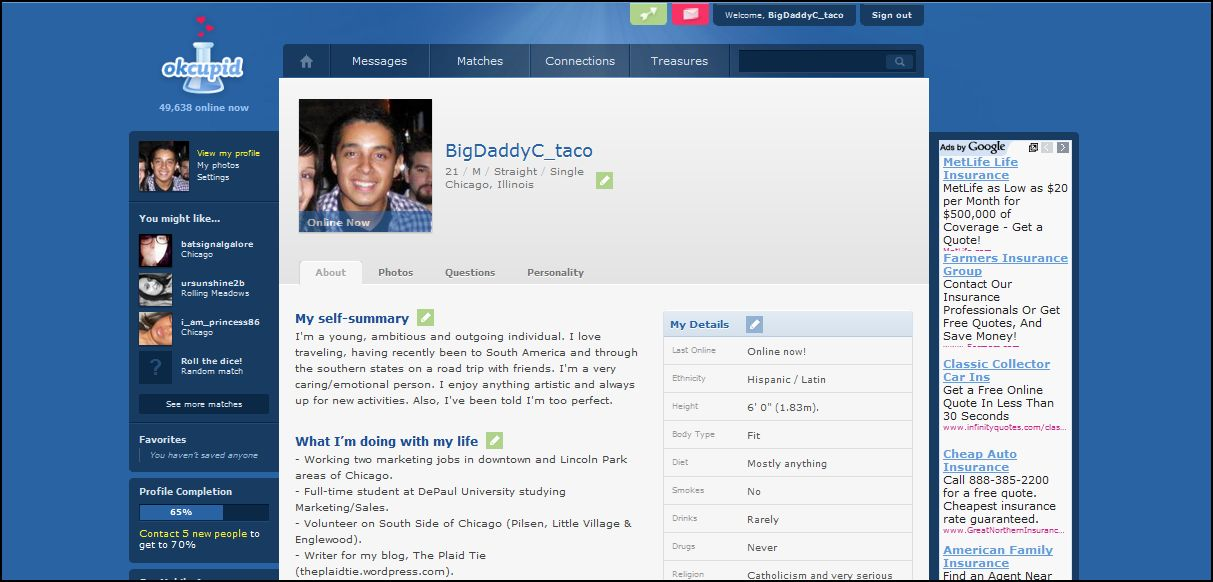 Examples of good okcupid profiles